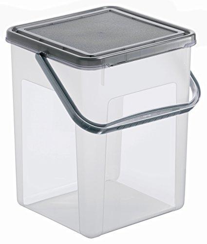 beh lter f r waschpulver aus kunststoff pp mit deckel und griff 7 l geeignet f r 5 kg. Black Bedroom Furniture Sets. Home Design Ideas