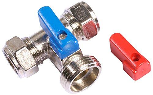 Universal 2 Wege Wasserhahn Adapter für Hähne Doppel 15mm Außengewinde